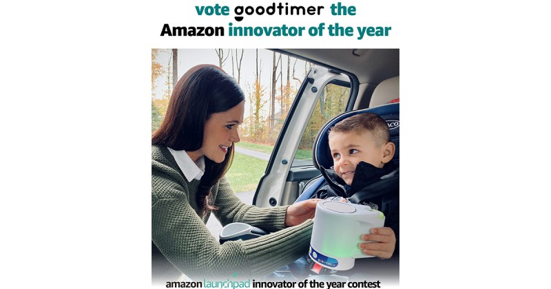 FAMILY-OWNED SMALL BUSINESS GOODTIMER PLEDGES $50,000 AMAZON INNOVATION AWARD TO ST. JUDE'S--VOTE NOW AND DO SOME GOOD!—Vote for Parent-invented Goodtimer now through August 21 to Support Patented Positive Parenting Device and a Great Cause - #GoGoodtimer