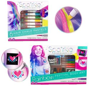 Spa*rkle Hair Chalk Pastels and Barrettes Set ($16.99