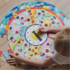 eeBoo Around The Clock Puzzle • Ages 3+ • $21.99